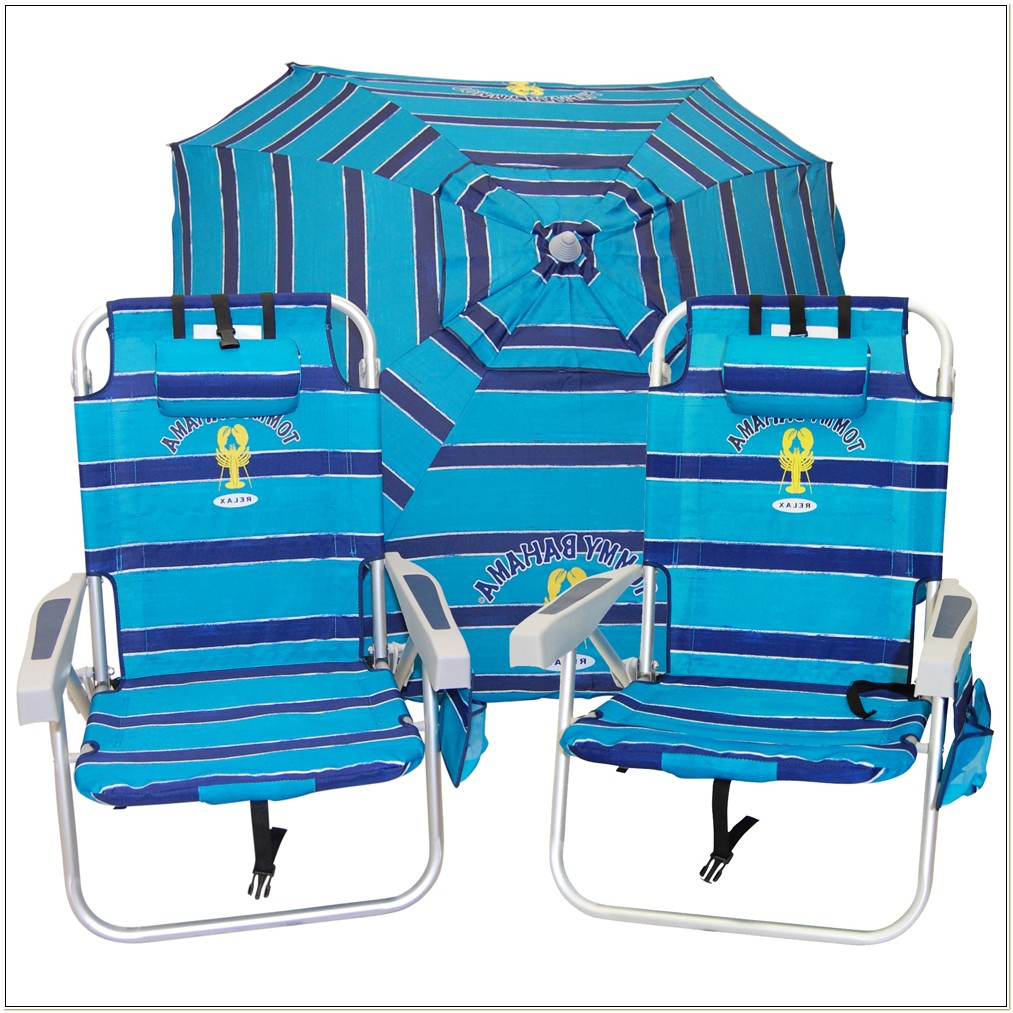 Tommy Bahama Beach Chairs And Umbrella Set