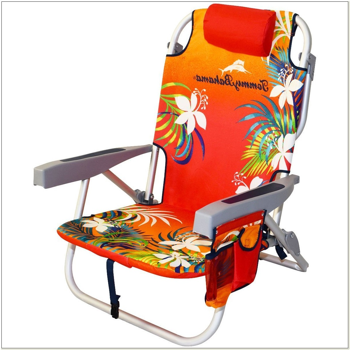 Tommy Bahama Orange Deluxe Backpack Beach Chair