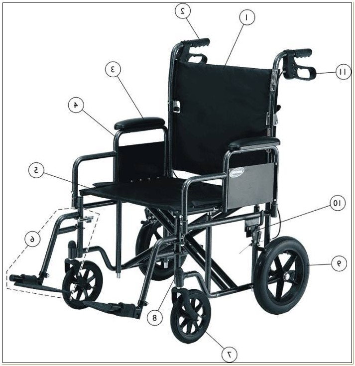 Transport Wheelchair Replacement Wheels