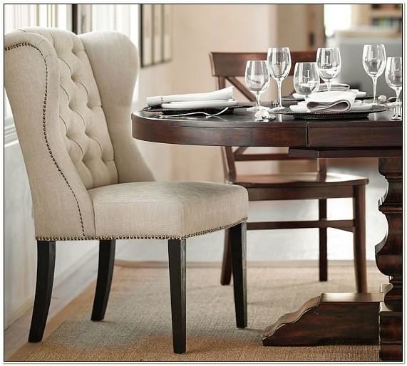 Tufted Wingback Dining Room Chairs