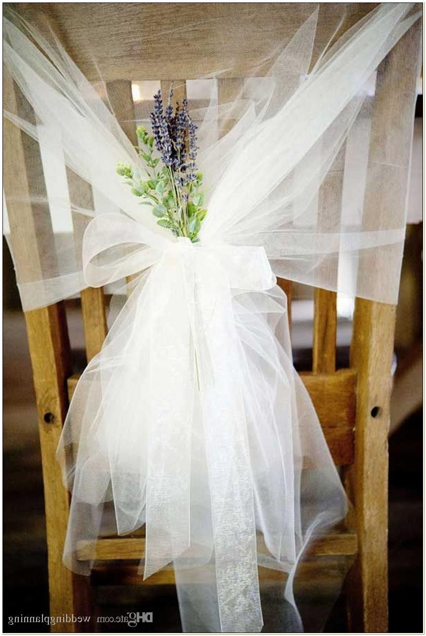 Tulle Sashes For Chairs