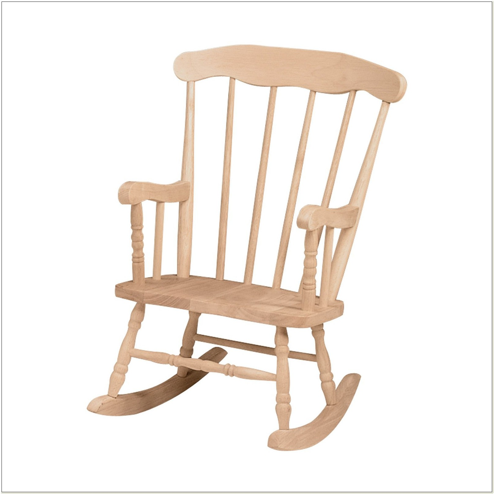 Unfinished Wood Rocking Chair Child