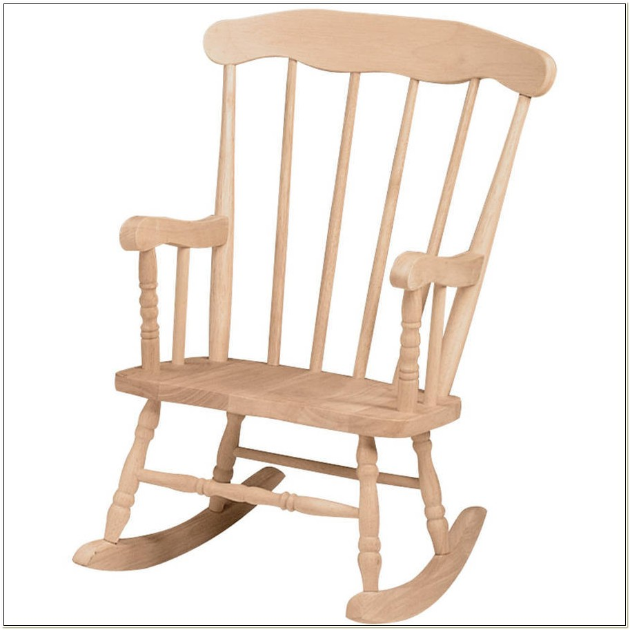 Unfinished Wood Rocking Chairs