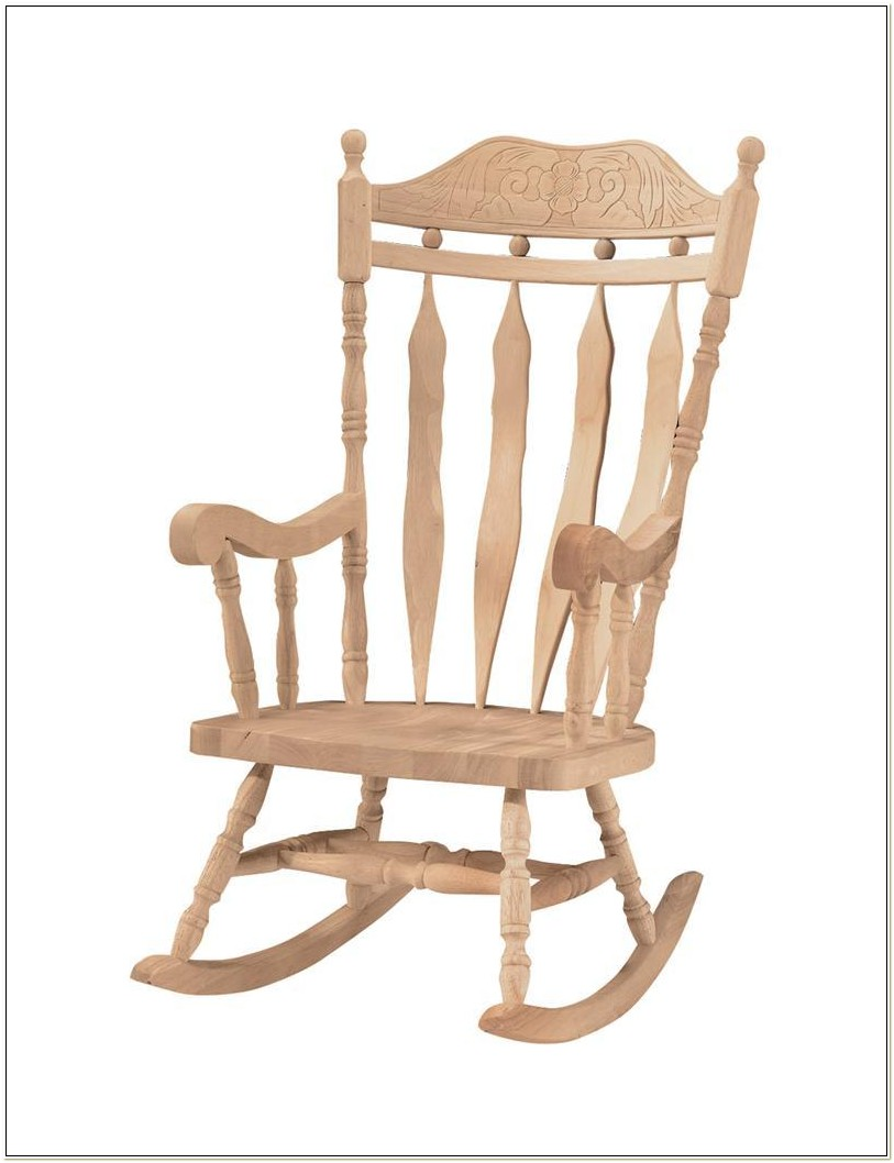 Unfinished Wooden Outdoor Rocking Chairs