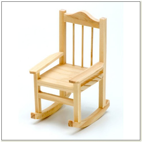 Unfinished Wooden Rocking Chairs