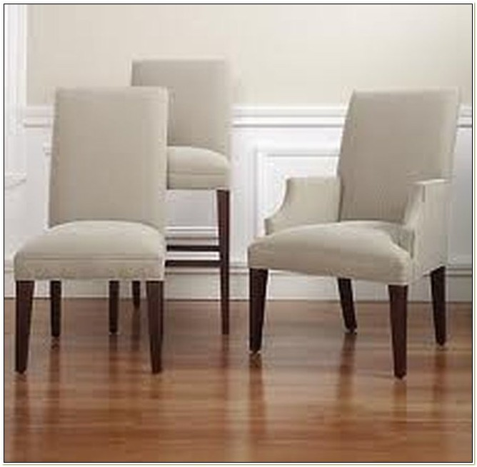 Upholstered Parsons Chairs With Arms