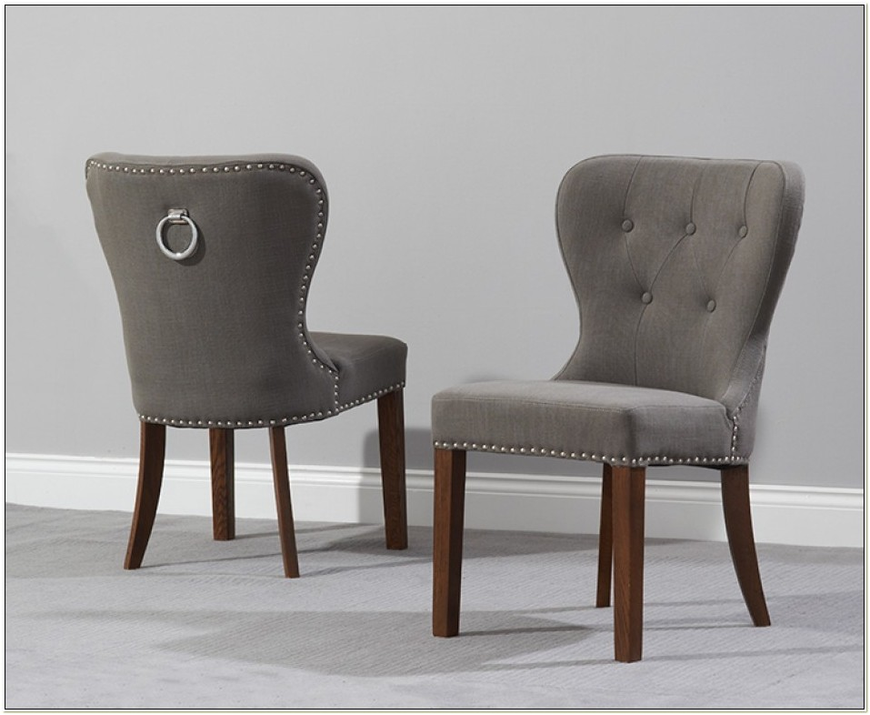 Upholstered Studded Dining Chairs