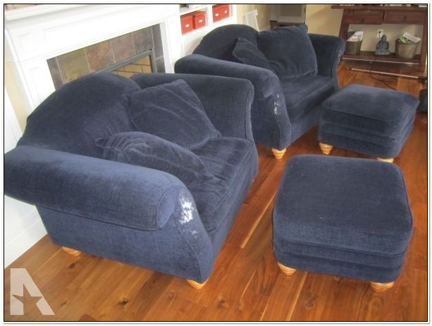 Used Overstuffed Chair And Ottoman