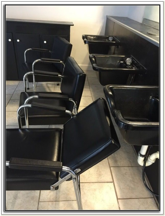 Used Salon Sink And Chair