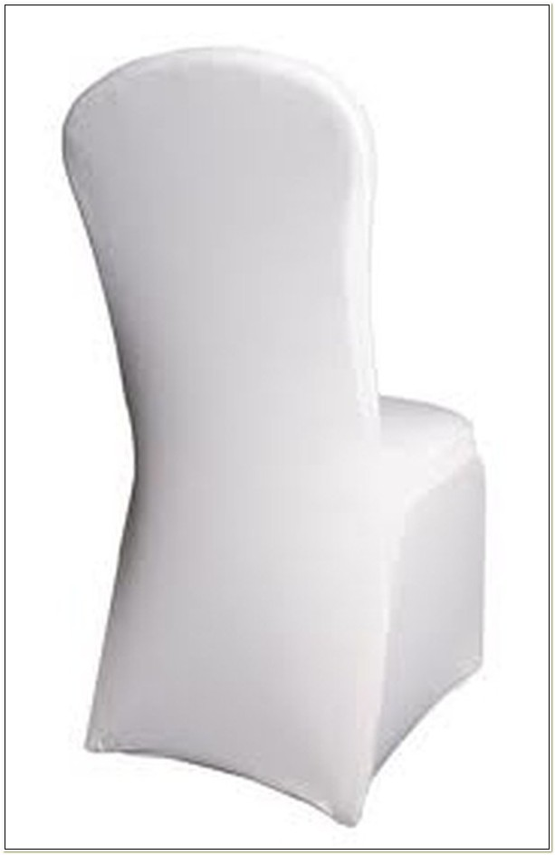 Used White Lycra Chair Covers