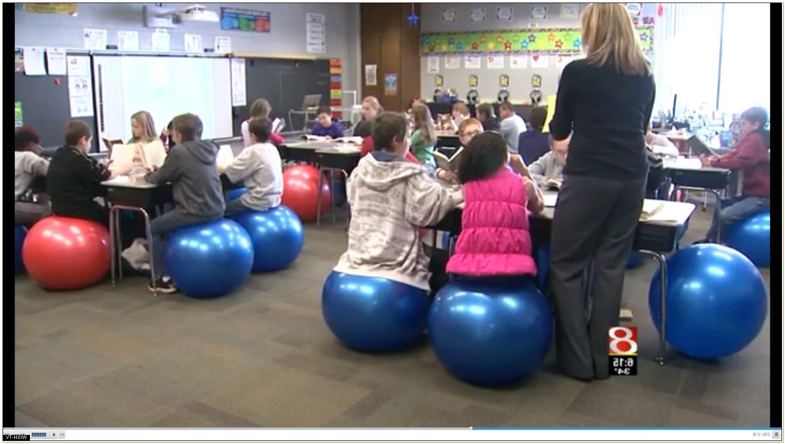 Using Exercise Balls As Chairs