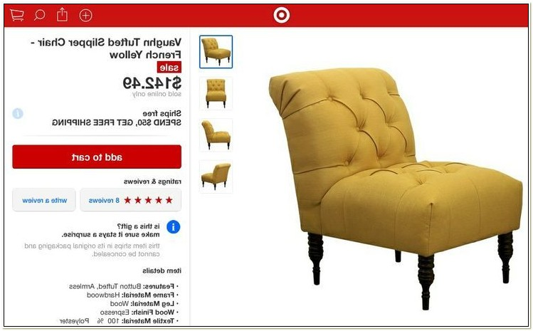 Vaughn Tufted Slipper Chair French Yellow