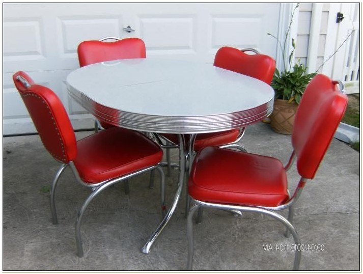 Vintage 50s Kitchen Table And Chairs