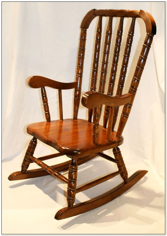 Vintage Jenny Lind Rocking Chair