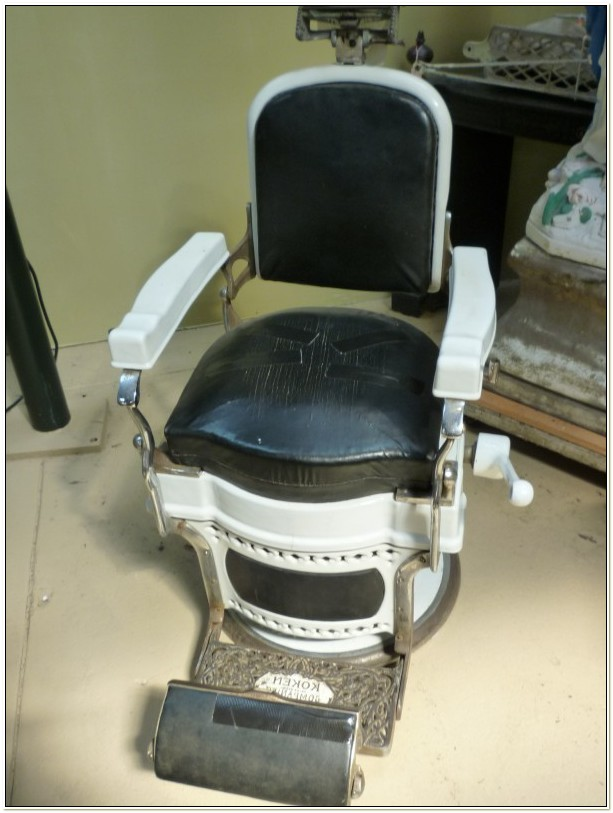 Vintage Koken Barber Chair Headrest