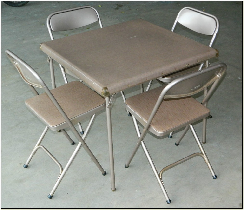 Vintage Samsonite Folding Table And Chairs