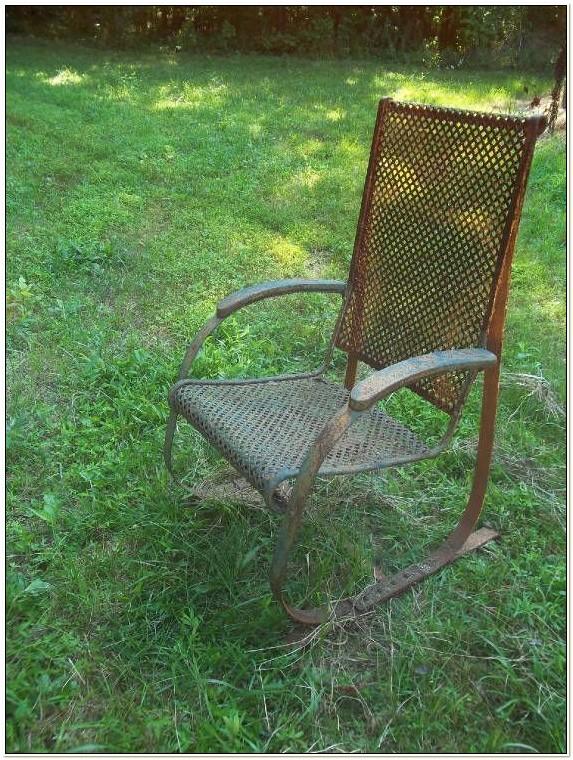 Vintage Spring Steel Patio Chair