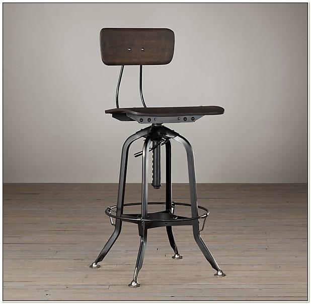 Vintage Toledo Bar Chair Distressed Black