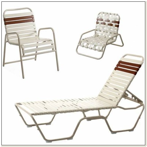 Vinyl Strap Folding Patio Chairs