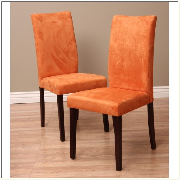 Warehouse Of Tiffany Shino Orange Dining Chairs