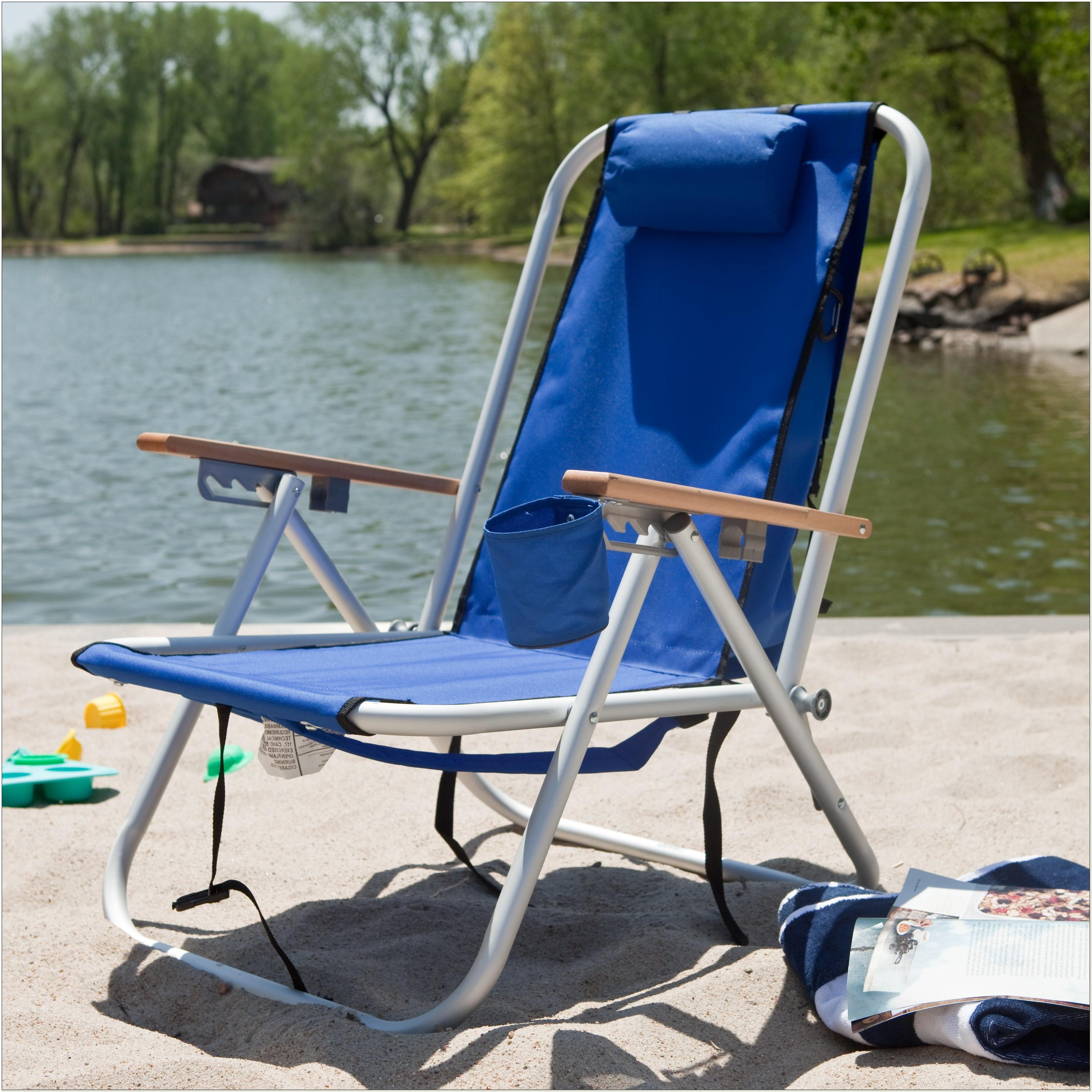 Wearever Aluminum Hi Back Backpack Beach Chair