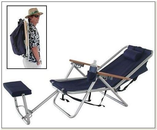 Wearever Steel Frame Backpack Chair With Footrest