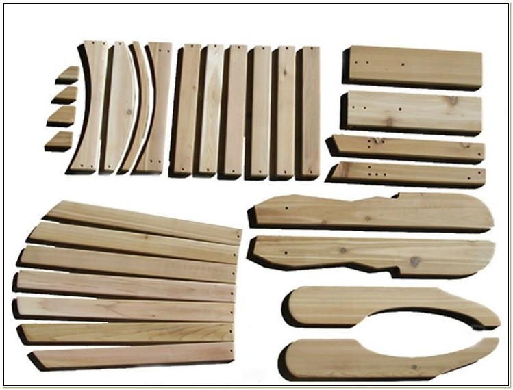 Western Red Cedar Adirondack Chair Kits