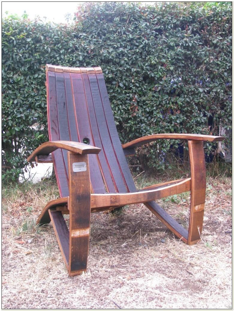 Whisky Barrel Adirondack Chair