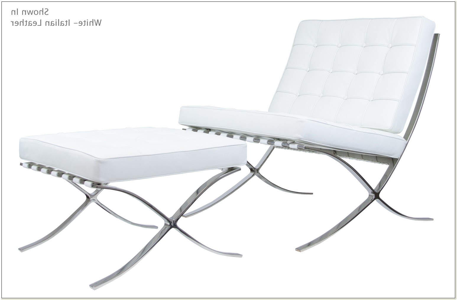 White Barcelona Chair Knock Off