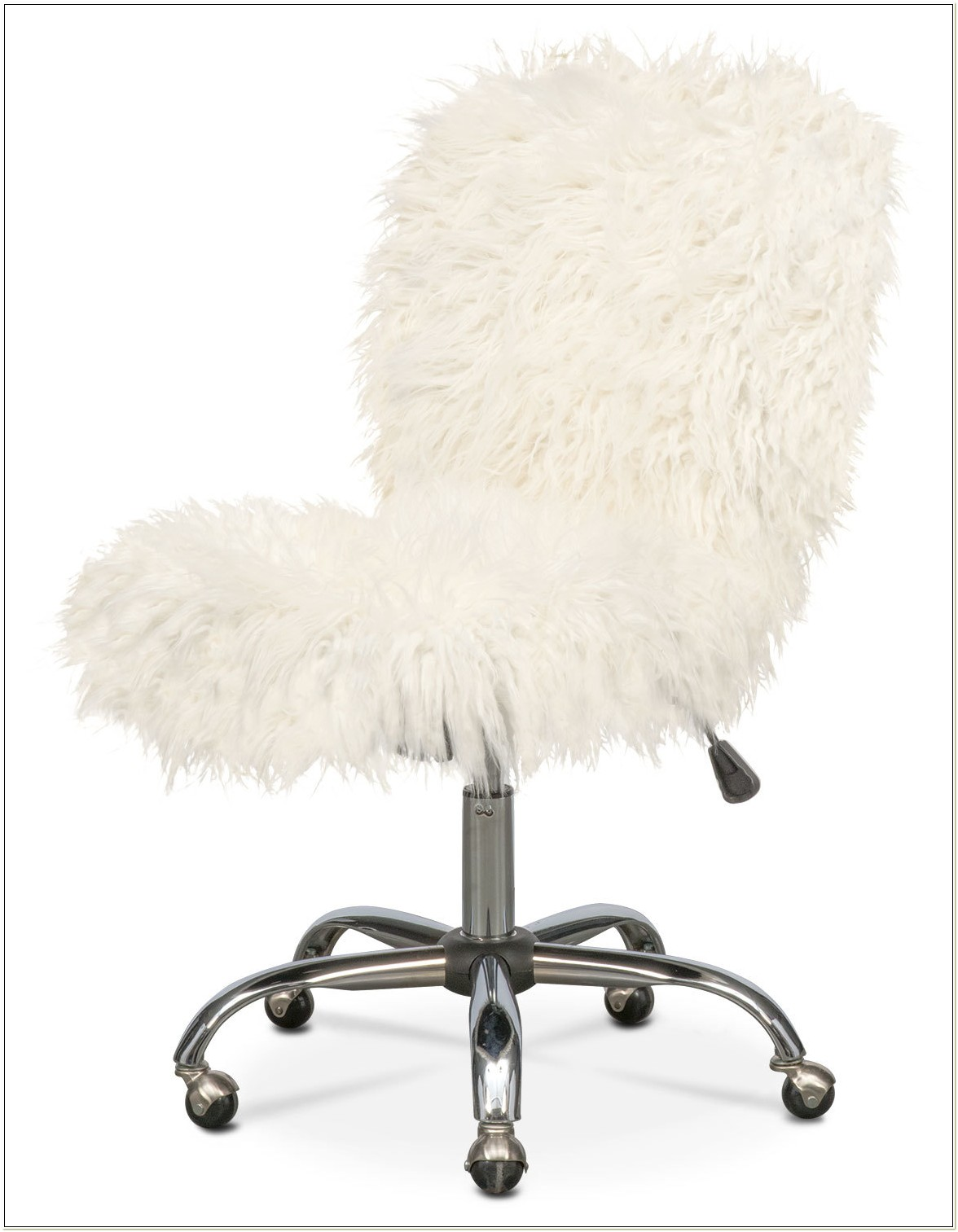 White Furry Desk Chair