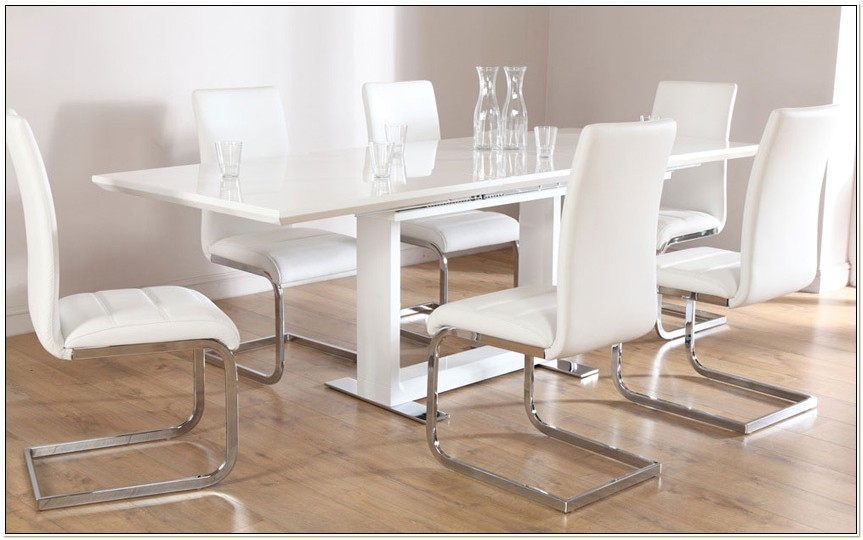 White Gloss Dining Table And Chairs Ikea