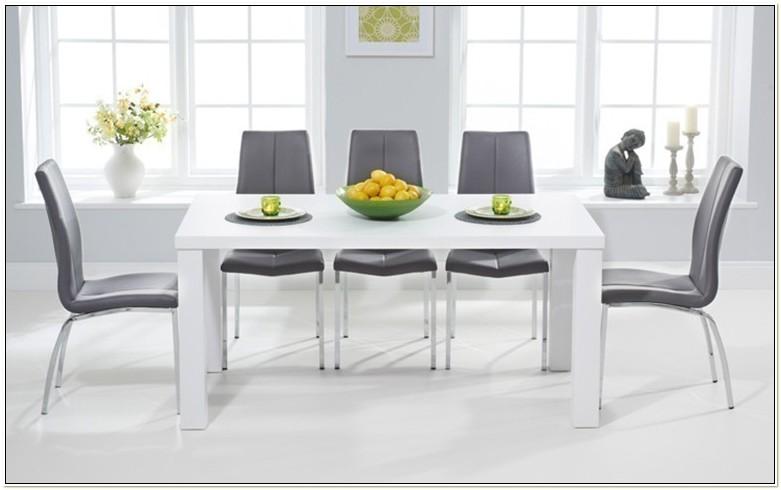 White Gloss Kitchen Table Sets