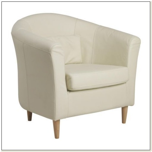 White Leather Club Chair Ikea