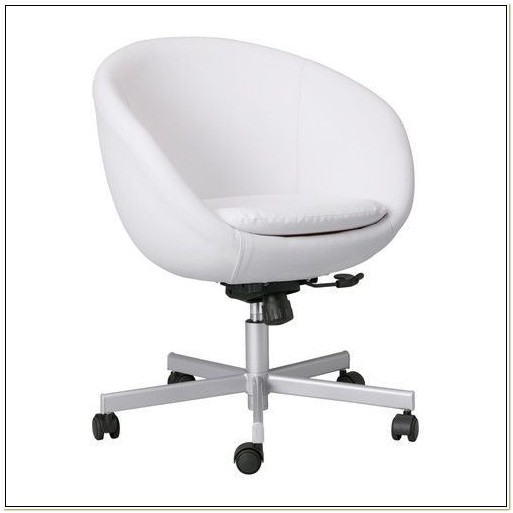 White Leather Swivel Chair Ikea