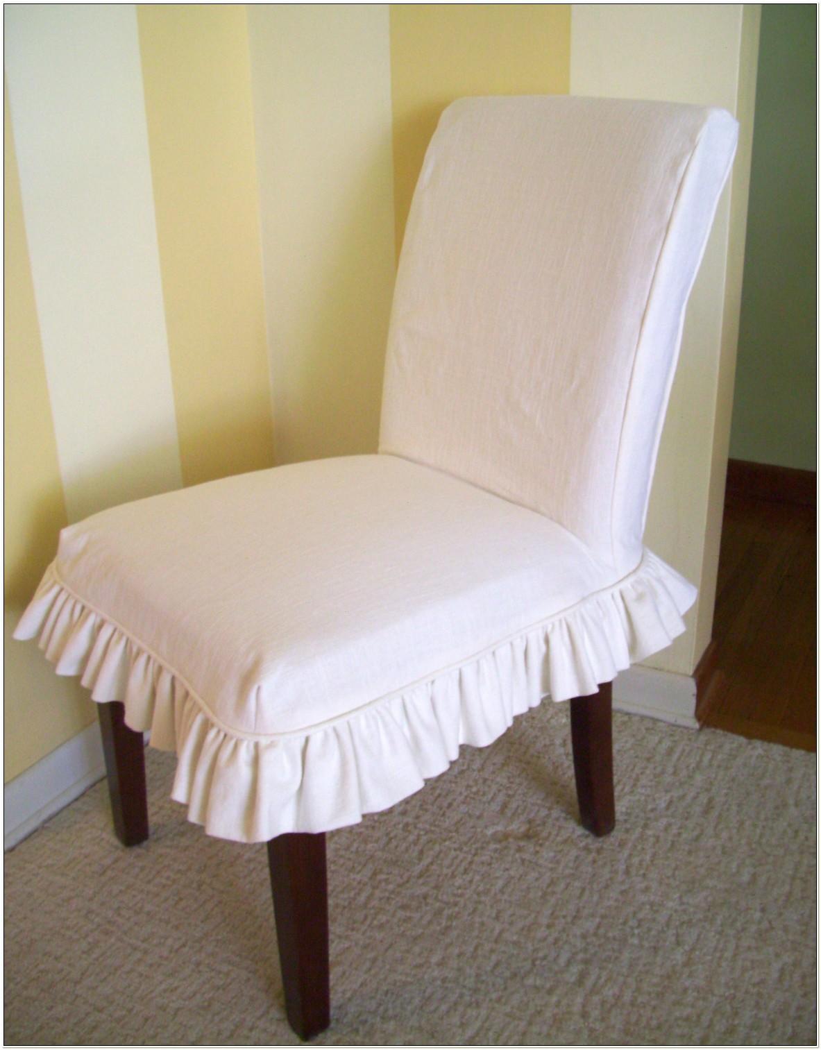 White Linen Parson Chair Slipcovers