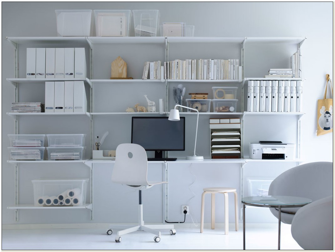 White Office Furniture Ikea