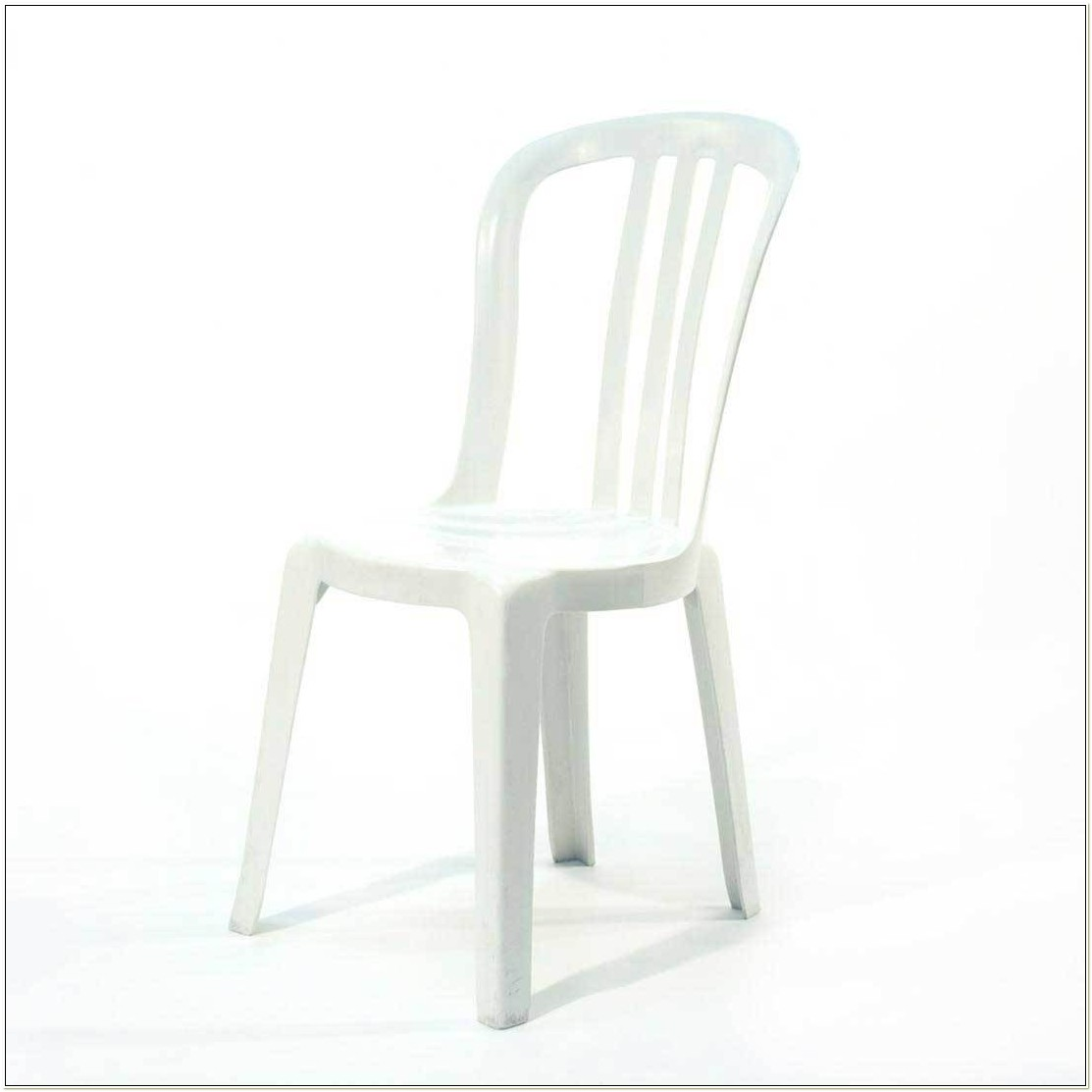 White Plastic Resin Stacking Chairs