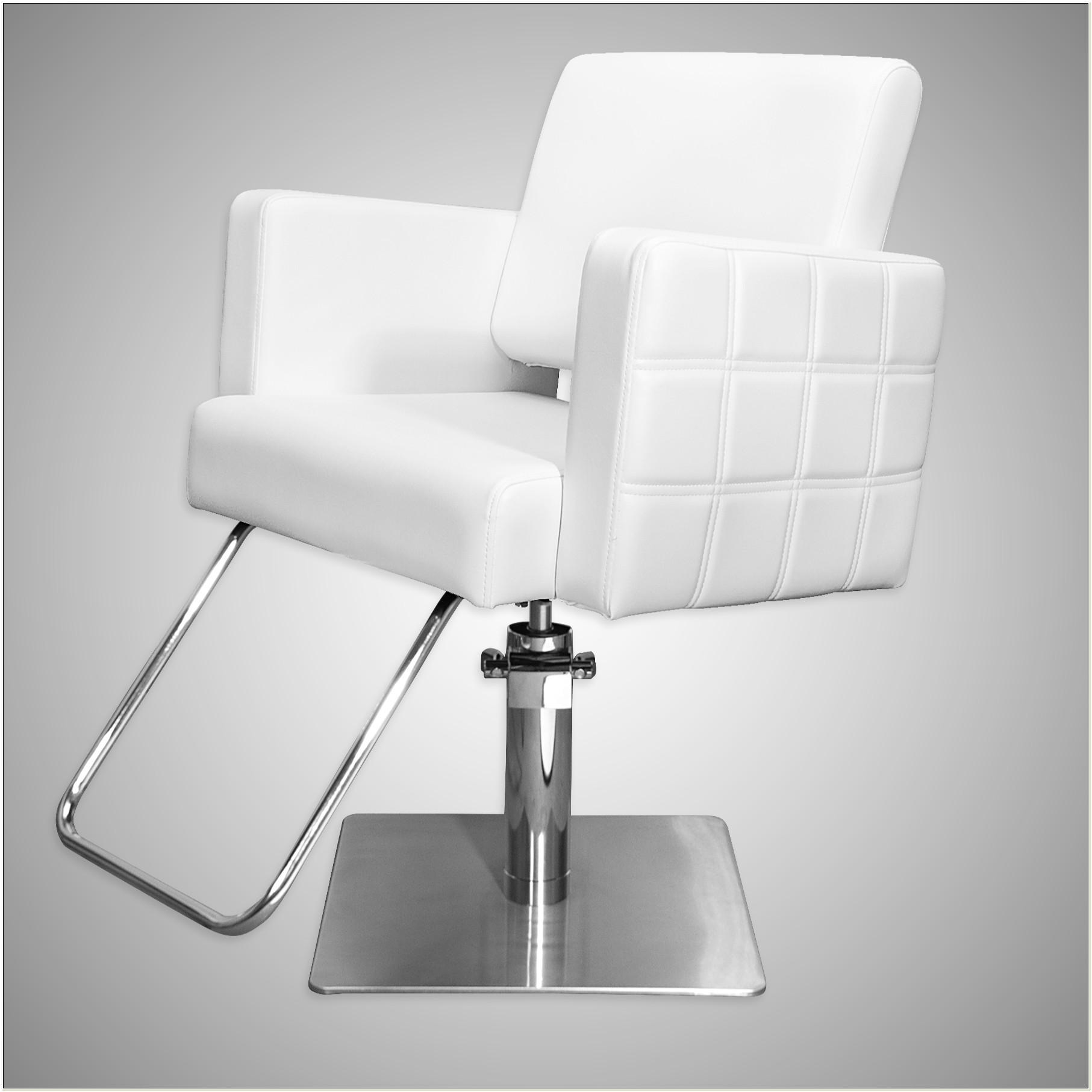 White Reclining Salon Chair