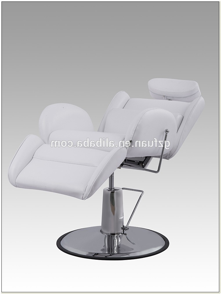 White Reclining Styling Chair