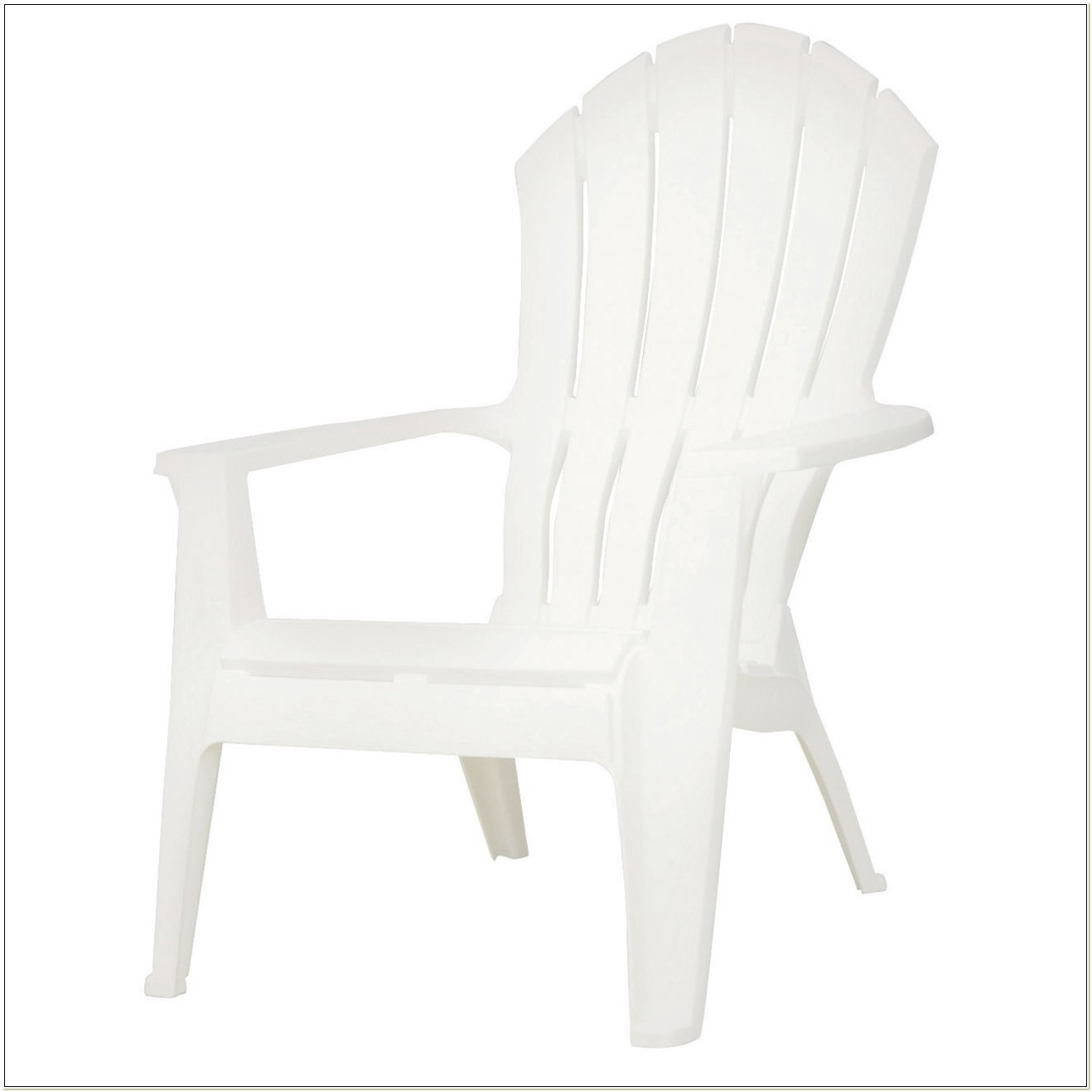 White Resin Stackable Adirondack Chairs