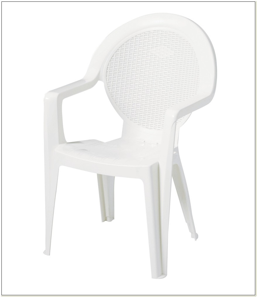 White Resin Stackable Patio Chairs