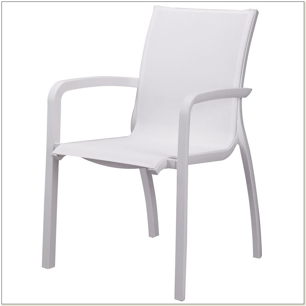 White Resin Stacking Arm Chairs