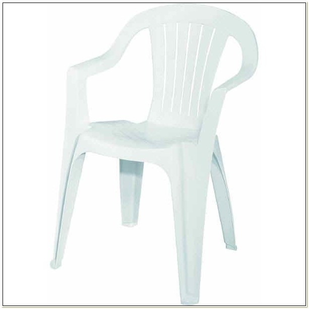White Resin Stacking Chairs