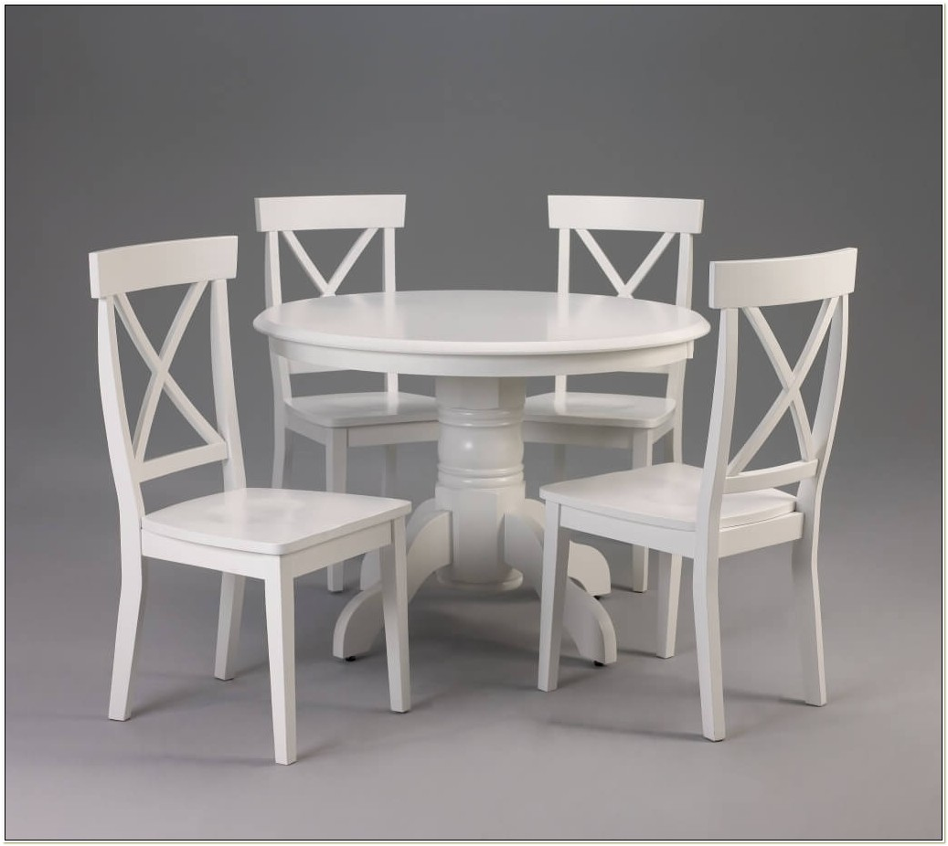 White Round Table And Chairs Ikea