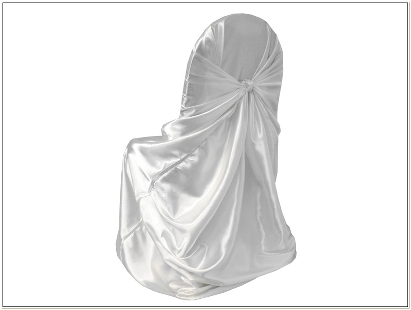 White Satin Universal Chair Covers