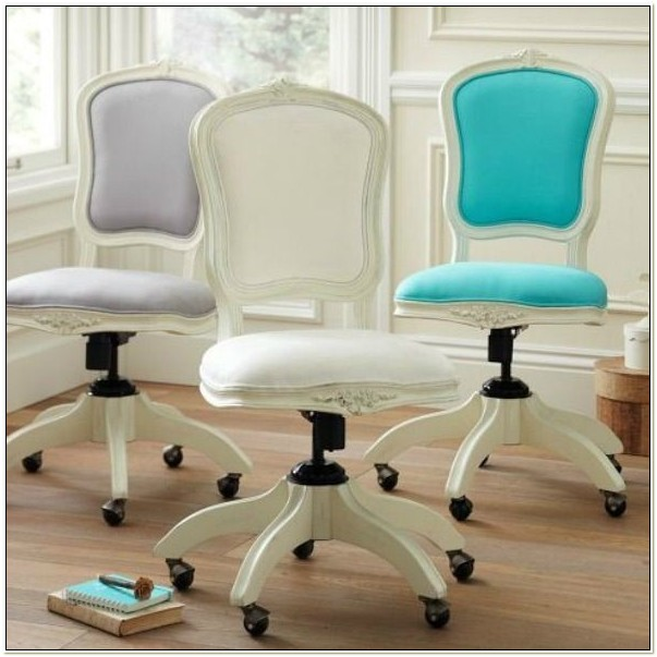White Shabby Chic Office Chair