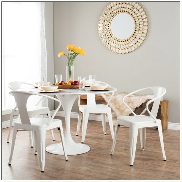 White Tabouret Stacking Chairs