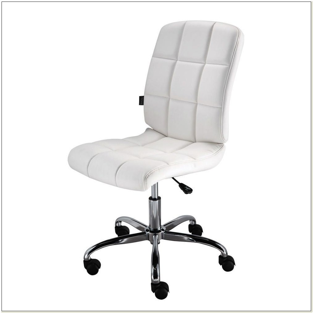 White Task Chairs Without Arms