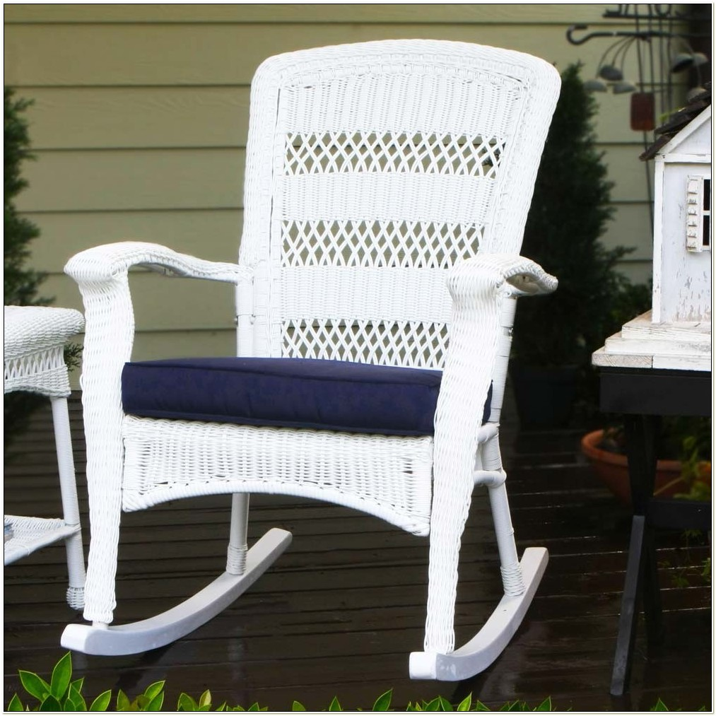 White Wicker Rocking Chair Indoor