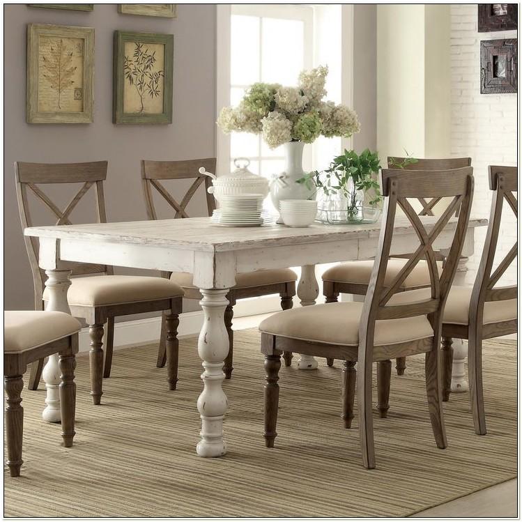 White Wood Dining Set
